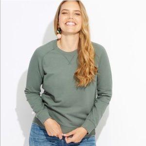 Pact Essential Vintage Sweatshirt Moss Green